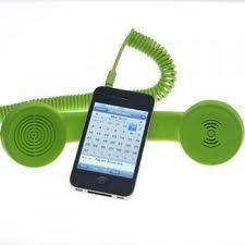 POP phone iPhone handsets!: Phones Iphone, Geek Gears, Ipad Iphone, Pop Phones, Personalized Technology, Retro Cool Phones, Iphone Handset, Retro Iphone Haha, Green Tech