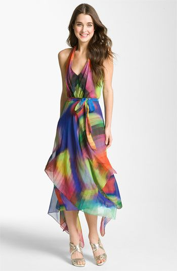 Suzi Chin for Maggy Boutique Print Halter Dress | Nordstrom....perfect for a summer party