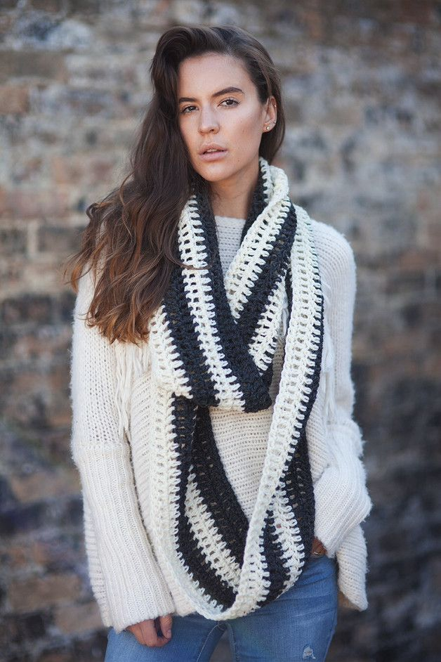 Crocheted Scarves – Chunky handmade crochet scarf – a unique product by TigsTogs on DaWanda