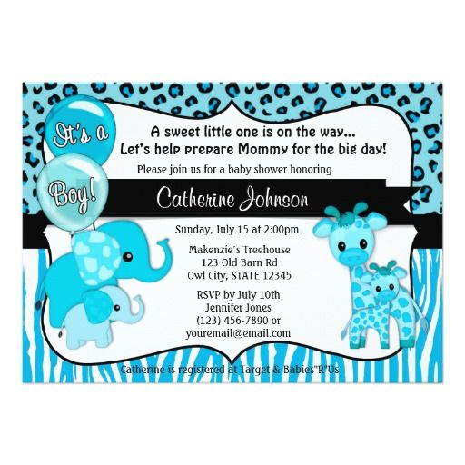 414 best images about safari baby shower invitations on pinterest, Baby shower invitations