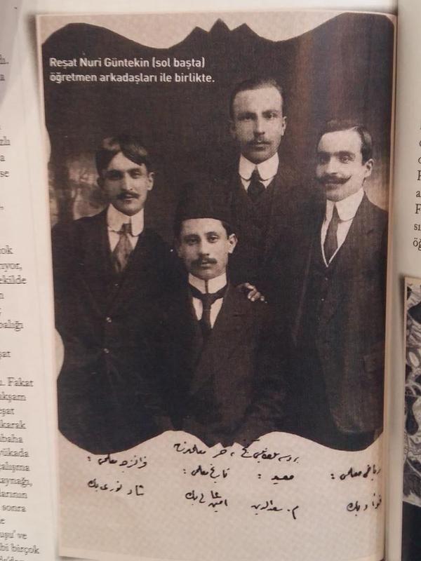 Reşat Nuri Güntekin (sol başta) öğretmen arkadaşları ile birlikte Büyükada'da #nostalji #istanlook