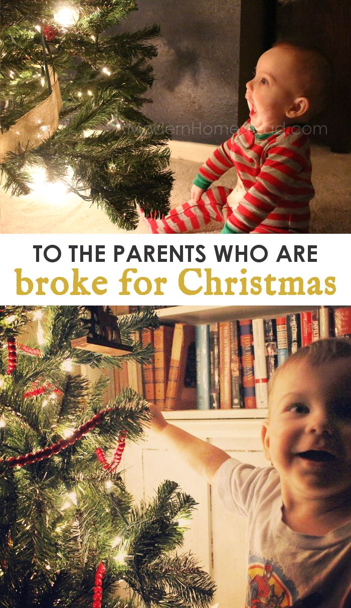 To The Parent Who Is Broke at