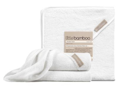 Dry sensitive skin quickly with the most gentle baby towel. The Little Bamboo Hooded Towel is made of a unique blend of bamboo rayon and cotton making it extraordinarily soft and super absorbent.