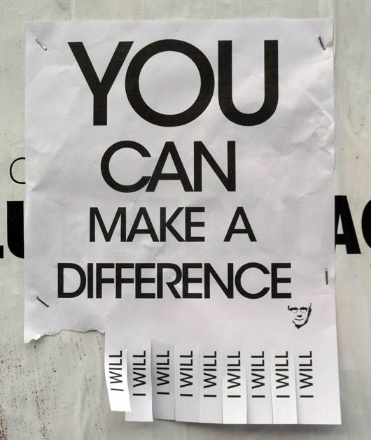 You Can Make A Difference...Will You?
