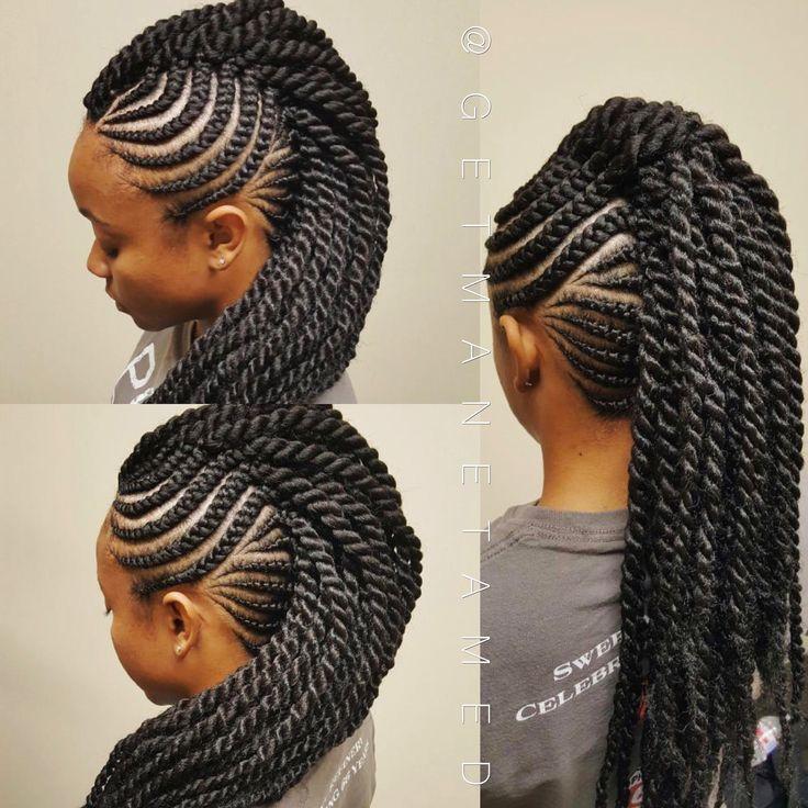 8 braided mohawks
