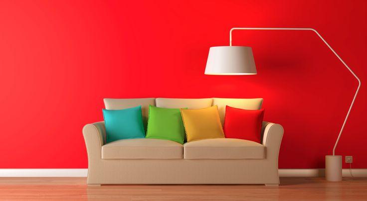 Cambia el color de tus paredes y revive tu espacio con tonos rojos.