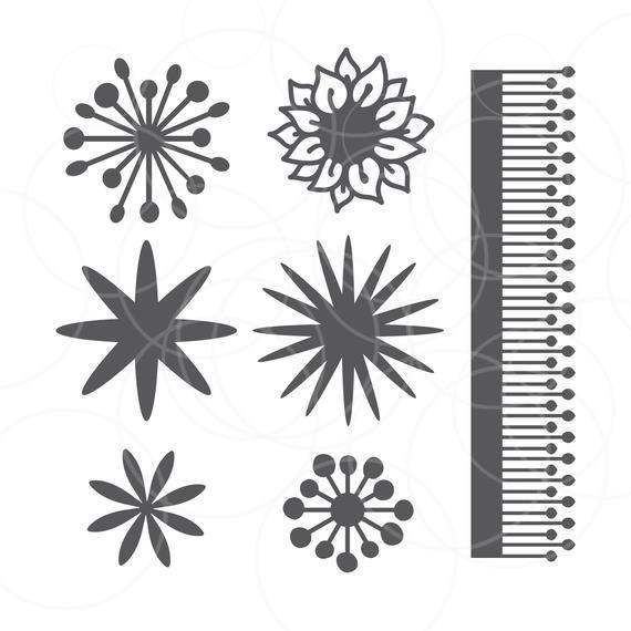 Flower Center 27 Original Designs Paper Flower Template Etsy