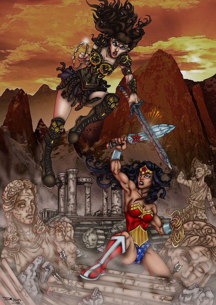 Wonder Woman Vs Xena by ~faceaway