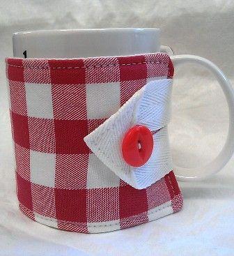 Red Check Mug Hug