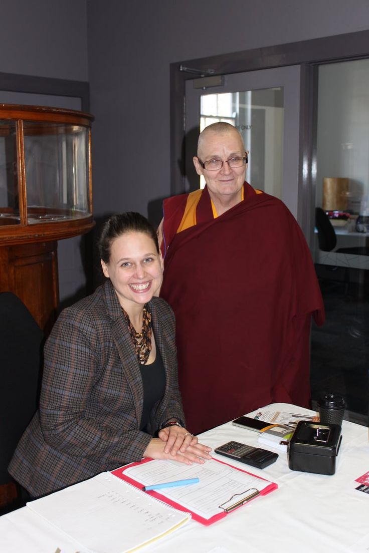With Venerable Thubten Chokyi, Director Liberation Prison Project Healesville Exhibition, 2013