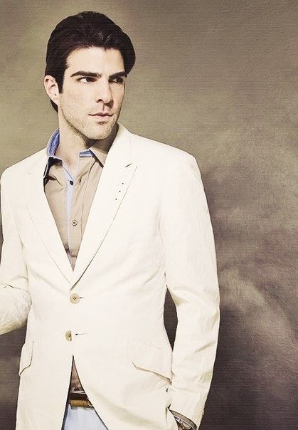 Zachary Quinto. This picture reads as straight up Sylar. I'm so used to seeing him as Spock, it's strange being reminded of what a marvelous villain he played. . . .