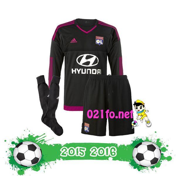 Boutique maillot gardien olympique lyonnais enfant 2016/17 noir domicile t shirt ol