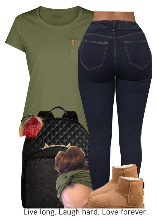 chill attire by trinityannetrinity on Polyvore featuring Fjällräven, UGG and Betsey Johnson