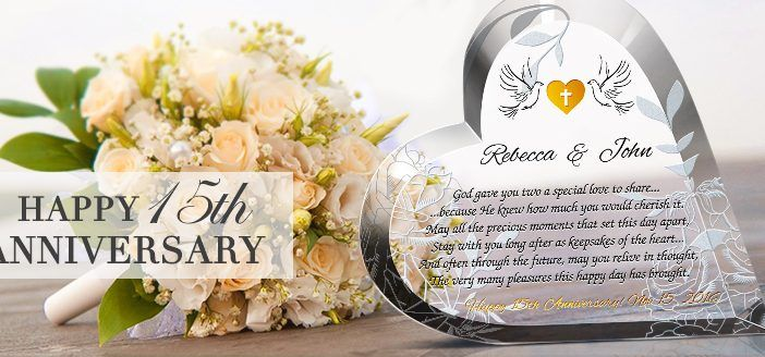 15th Wedding Anniversary Gift Ideas For Wife: Unique 15 Year Wedding Anniversary (Crystal Anniversary