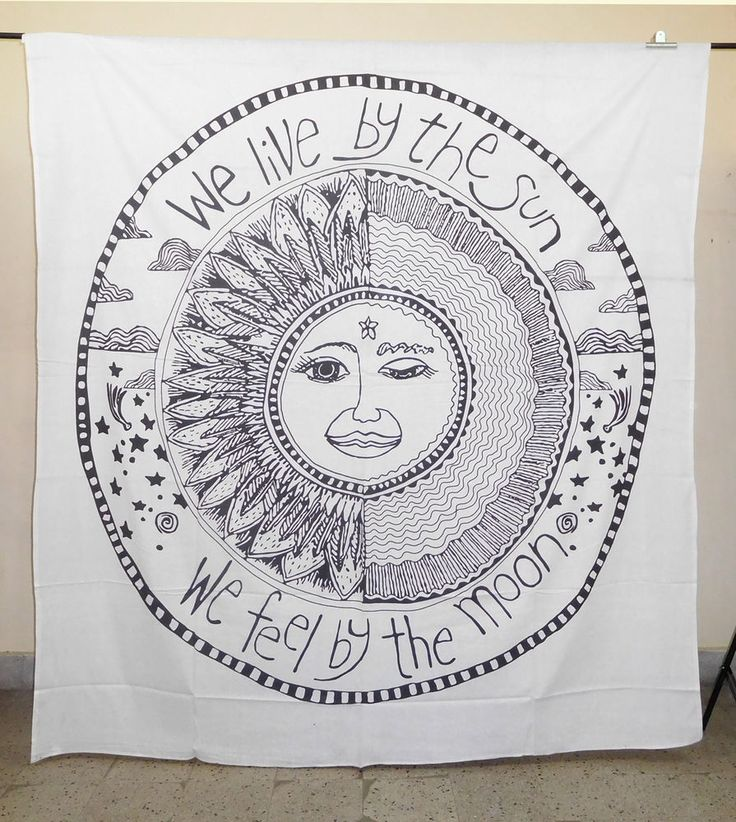 Sun Moon Tapestry Wall Hanging Indian Mandala Tapestries Bedspread Wall Decor #Handmade #Traditional #TapestryBedspreadBedsheetsWallHangingBed