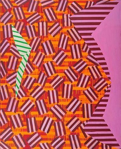 Mari Rantanen, NAME OF THE GAME 1988, Oil on canvas