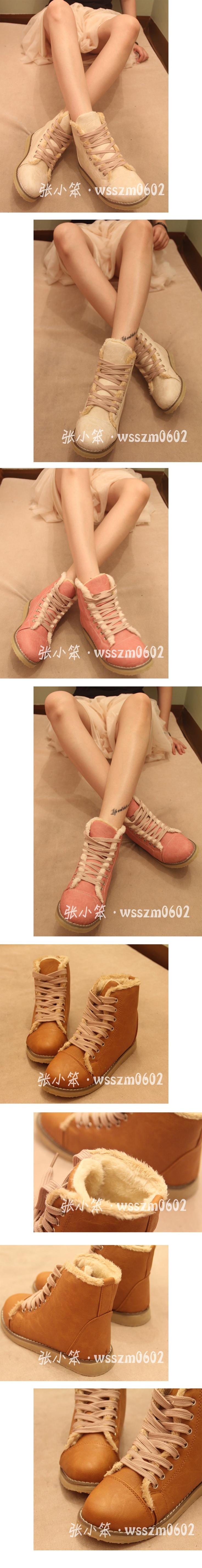 這雙鞋超可愛的~~圓頭加毛飾!!真的被萌到了~~taobao淘寶