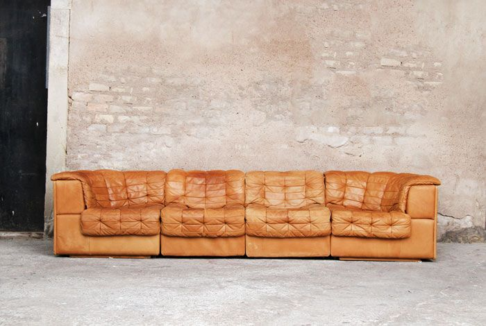 Canapé cuir brun clair DESEDE!