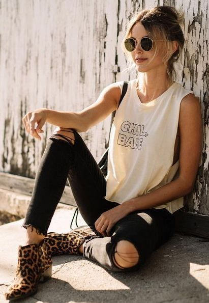 Rock 'n' Roll Style ✯  MATE the Label   CHILL, BABE Tank