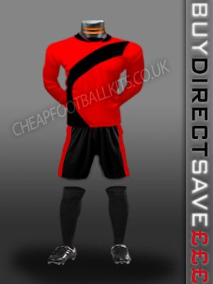 Attack Discount Football Kit Red/Black