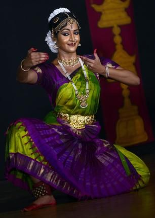 Portrait of a graceful dancer: Aarabhi Badri.
