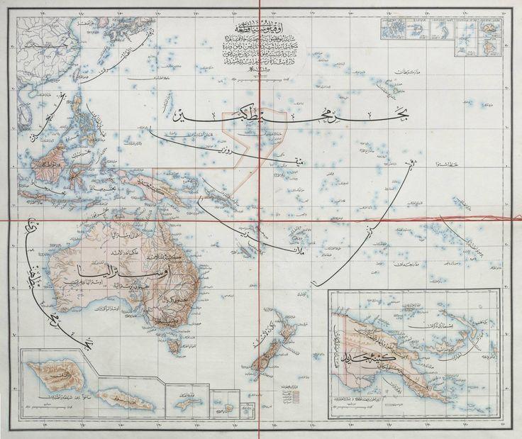 AN OTTOMAN MAP OF OCEANIA, 1897