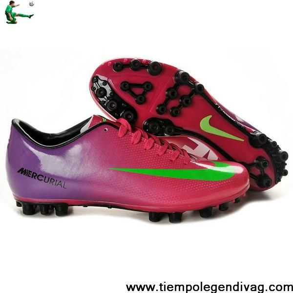 New Nike Mercurial Vapor IX AG Shoes Red Green Purple Soccer Boots For Sale