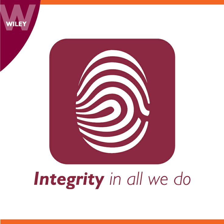 Integrity in all we do #wiley #value #culture
