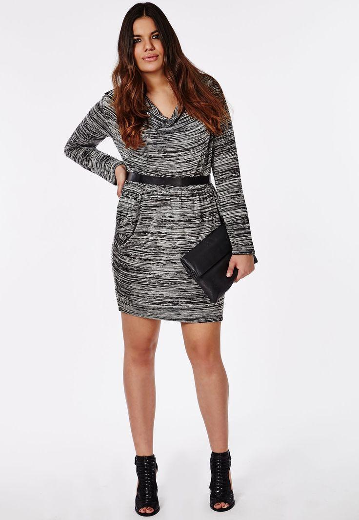 Plus Size Cowl Neckline Jersey Dress - Plus Size Dresses - Women's Plus Size - Missguided +