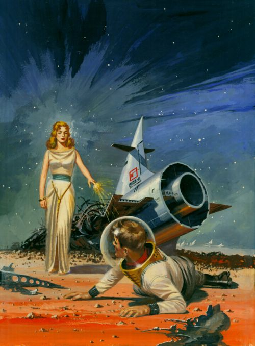 welcome, retro-futuristic, sci-fi, astronaut, rocket, space future, science fiction