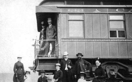 Sir John A. Macdonald and his wife travelling to British Columbia.