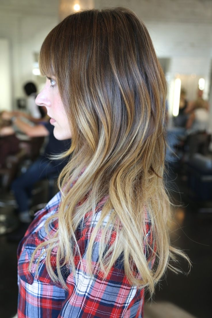 hair styles with short bangs best ombre hair color for brunettes i normally don t 3372 | d77fae88715e8c329e3372f5901c771d