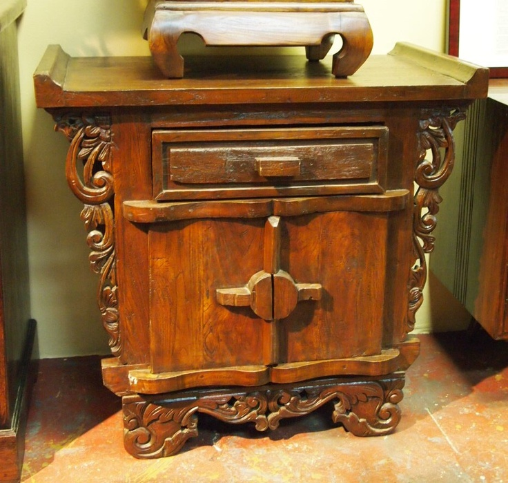 Bali Carved Console Cabinet handcrafted from reclaimed teak wood. Visit  Gado Gado for a great