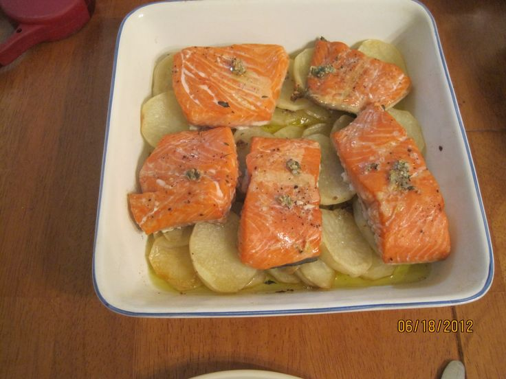 Oven-Roasted Trout with Potatoes | Yummies | Pinterest