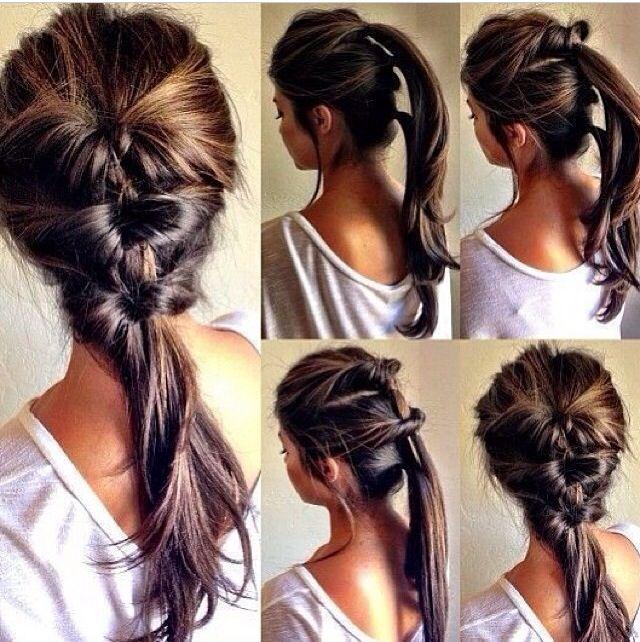 Multiple Inverted ponytails