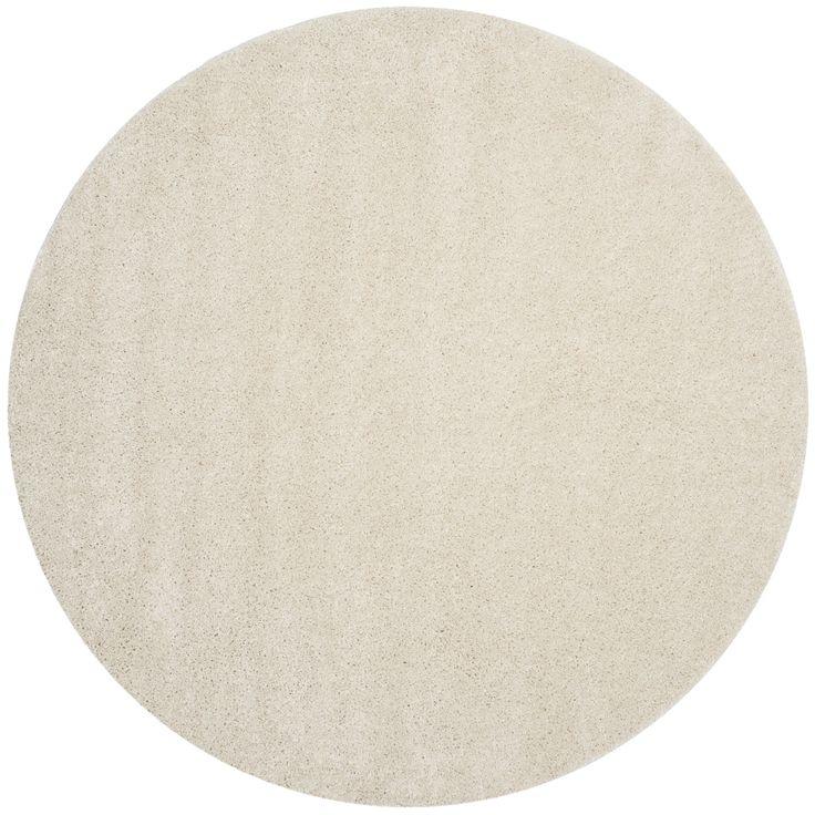 Good Safavieh Arizona Shag Southwestern Cream Shag Rug (7u0027 Round) , Beige Off  White, Size 7u0027 (Polypropylene, Geometric)