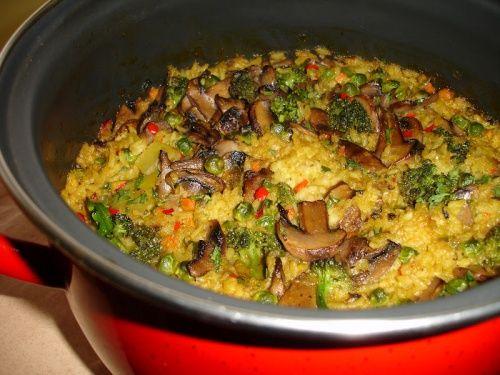 Orez cu legume, ciuperci si brocoli - imagine 1 mare