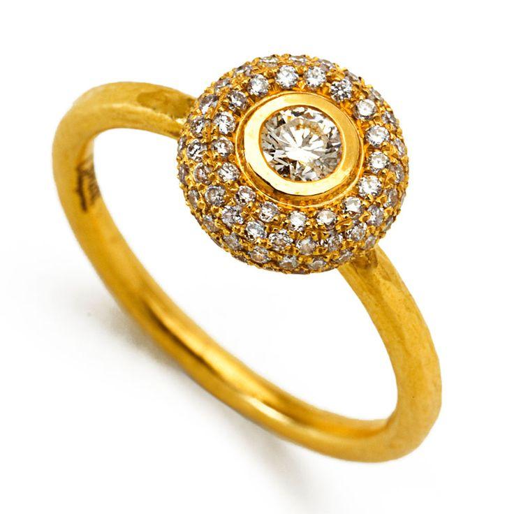 Pave Torus Solitaire Ring   אסנת וינגרטן - מעצבת תכשיטים Osnat Weingarten