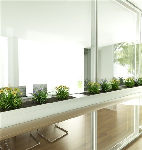 Planter for partition walls LINDNER PLUS GREEN OFFICE Lindner Group
