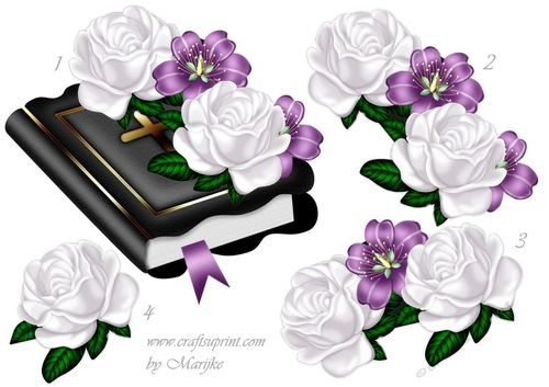 Beautiful Bible and Roses, for a gorgeous sympathy or other ocasion!