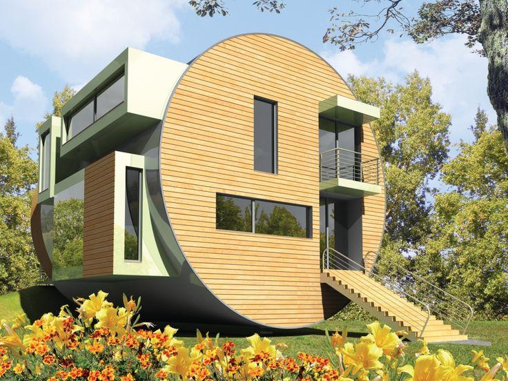 Bryła budynku jest bardzo nowoczesna, przez co nietypowa nie tylko dla budynków jednorodzinnych.
