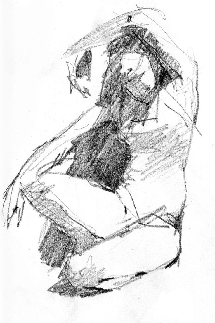 Four-minute gesture drawing, figure sketch, 2013.