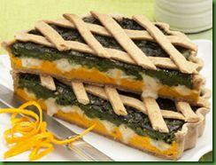 Cena Vegetariana: Crostata verde profumata all'arancia