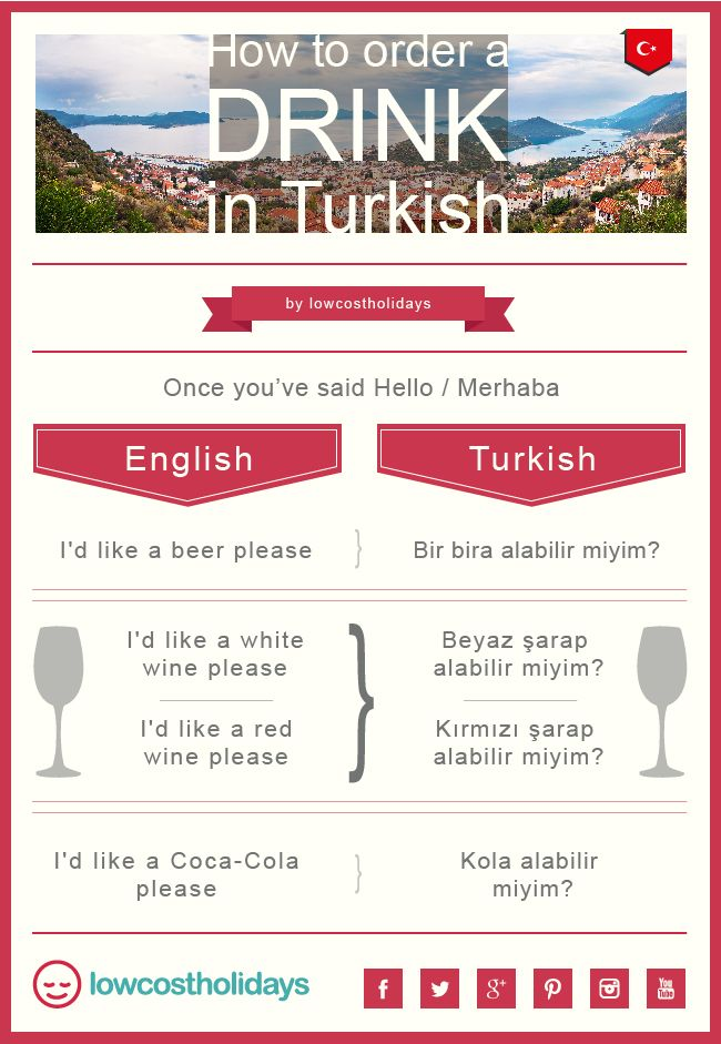 Holidaying in #Turkey some time soon? Order a drink the easy way - in #Turkish - by using our handy language tips!