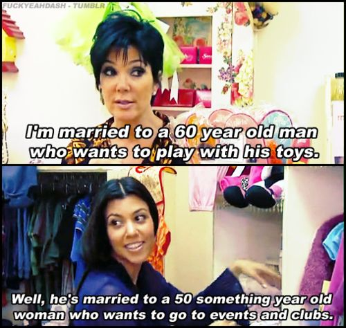 The difference between Kris and Bruce Jenner, Kourtney is so right and hilarious on Keeping Up With The Kardashians. #KUWTK