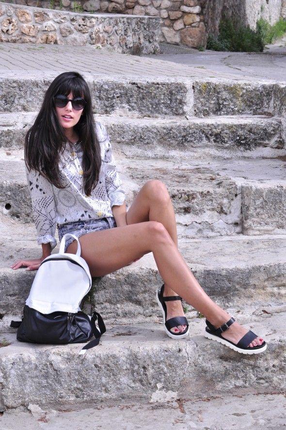 Ana Albadalejo shorts denim vaqueros