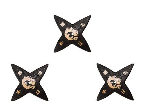 Tiger Claw Ninja Rubber Stars - 4 Points - Pack of 3 by Tiger Claw. $5.85. Authentic looking rubber tip ninja stars. Traditional in design. Gold embossed for safe practice.       * Sturdy Black Rubber     * Traditional Design     * Gold Embossed     * Legal and Safe