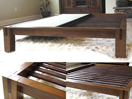 platform beds low platform beds japanese solid wood bed frame - Solid Wood Bed Frame