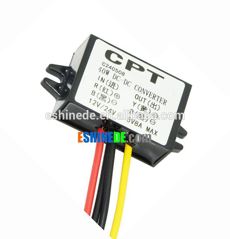 Factory Wholesale DC-DC Converter 12V/24V to 5V 8A 40W Step Down Power Transformer for Car Audio LED Display