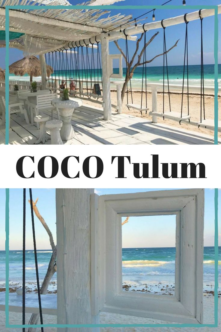 COCO Tulum is an eco-chic resort on the beach in #Tulum #Mexico with beautiful beach cabanas, mind blowing views, bar swings, and #Instaworthy photo opportunities all around. Check out more photos of this dreamy hip hotel and learn about all my BEST recommendations for things to do in Tulum and the BEST places to eat in Tulum too!